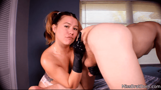 Red Leather Gloves Handjob