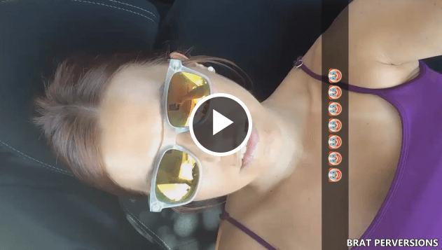 Car Masturbation and flashing